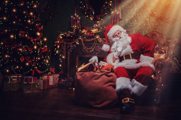 Santa in his grotto