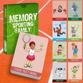 Memory card game Sporting family