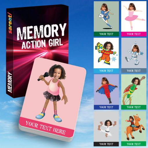 Memory Card game Action Girl