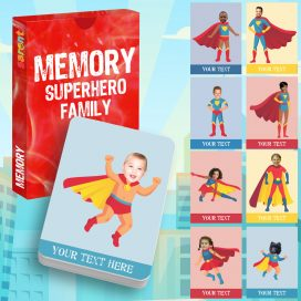 memory card game Superheroes family