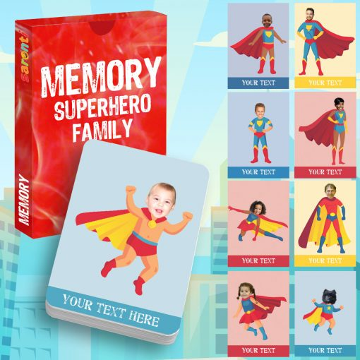 memory card game Superheroes family