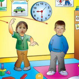 children reading the clock