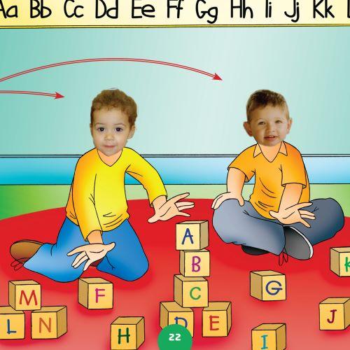 children learning the alphabet