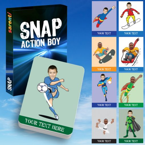 Snap Action Boy Playing cards