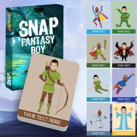 Snap Fantasy Boy Playing Cards