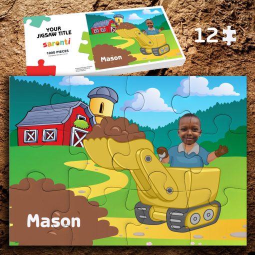 Digger 12 piece Jigsaw puzzle