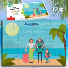 12 piece Family holiday 1 child Jigsaw puzzle