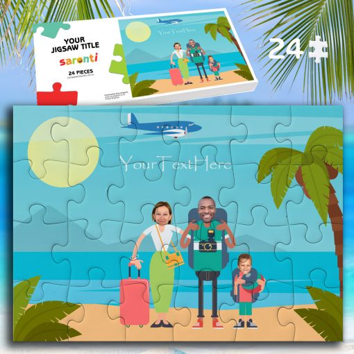 24 piece 1 child Family Holiday jigsaw puzzle