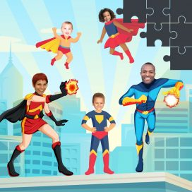 Superheroes Personalised Jigsaws