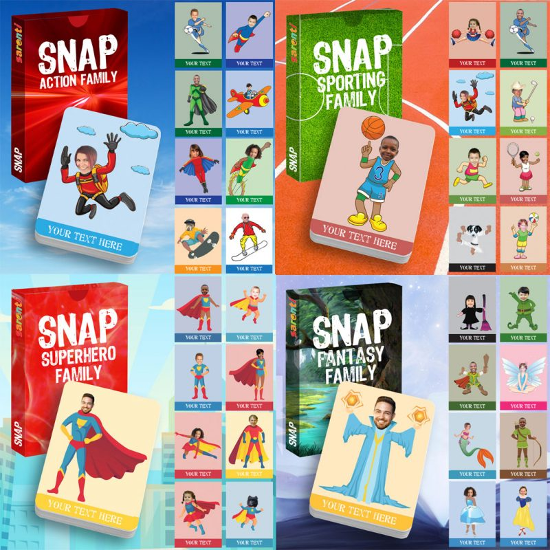 collection of Snap playing cards