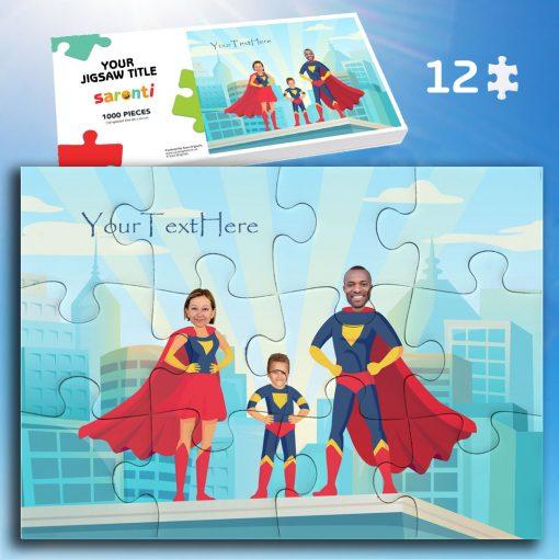 12 piece superheroes 1 child jigsaw puzzle