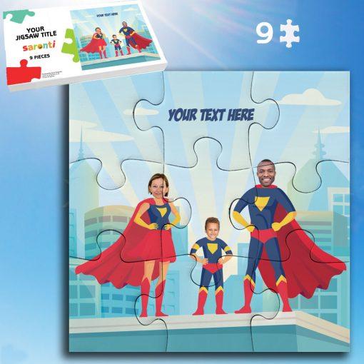 Superhero 9 piece, 1 child Family Jigsaw puzzle