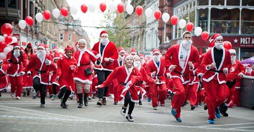 The annual Santa Race in Glasgow