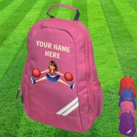 cheerleader pink backpack