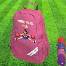 cheerleader pink backpack