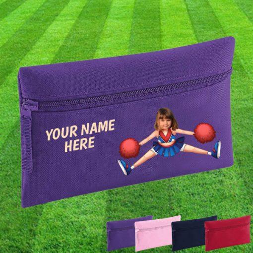 purple cheerleader pencil case
