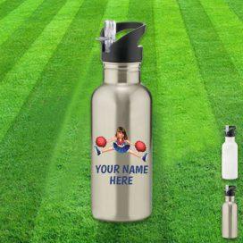 silver cheerleader water bottle