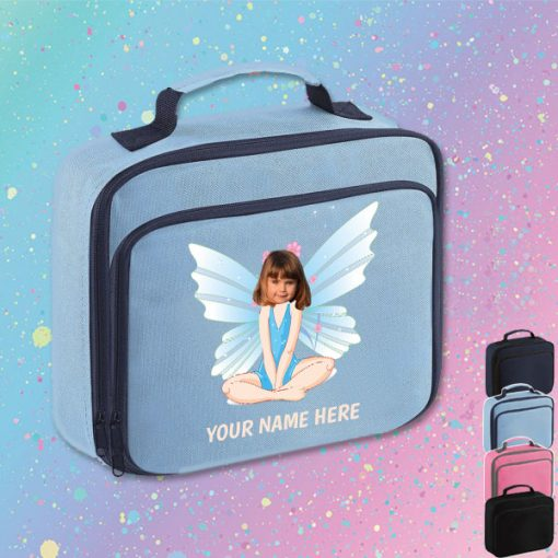blue fairy lunch bag