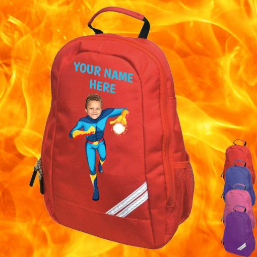 red fireboy backpack