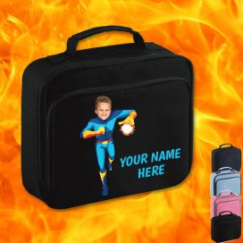 black fireboy lunch bag