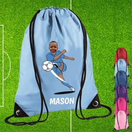 Personalised Drawstring School PE Bags