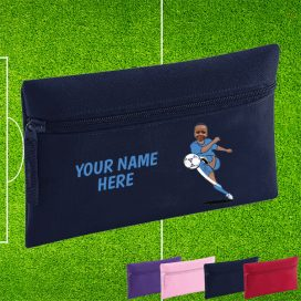 navy footballer pencil case