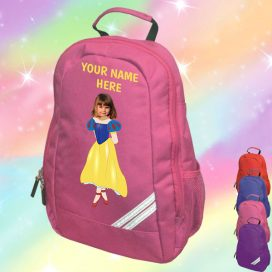 snow white pink backpack