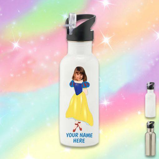 white snow white water bottle