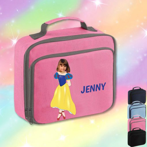 pink lunch bag with Snow white image