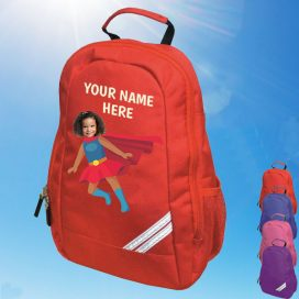 red supergirl backpack