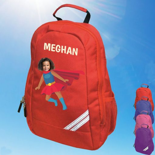 rec backpack with supergirl image