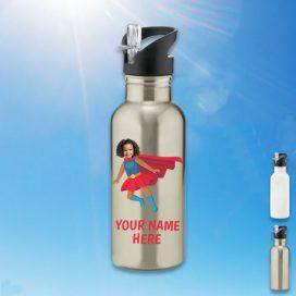 silver supergirl water bottle