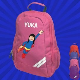 pink backpack with wonderkid image