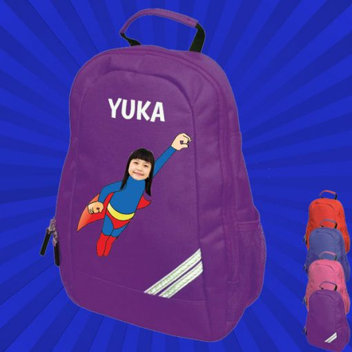 purple backpack with wonderkid image