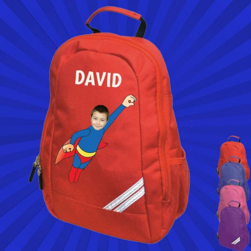 red backpack with wonderkid image