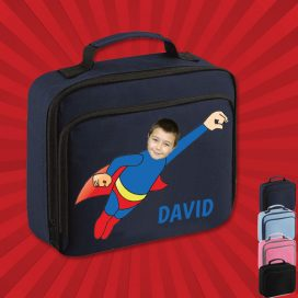 navy lunch bag with wonderkid image
