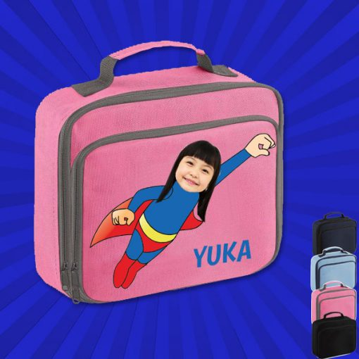 pink lunch bag with wonderkid image