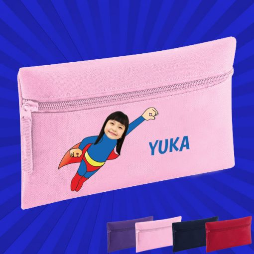 pink pencil case with wonderkid image
