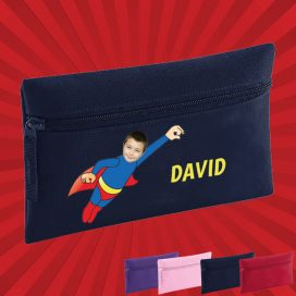 navy pencil case with wonderkid image