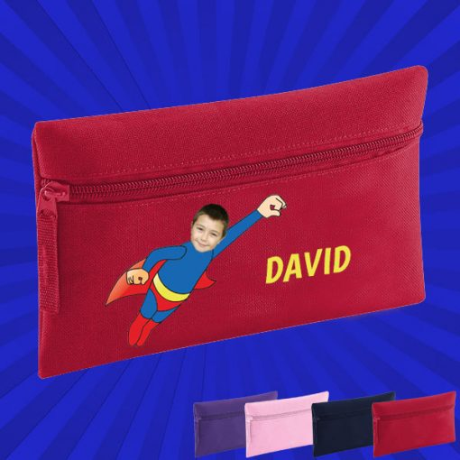 red pencil case with wonderkid image