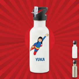 white water bottle with wonderkid image
