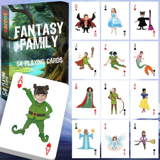 Playing cards 54 pack fantasy family