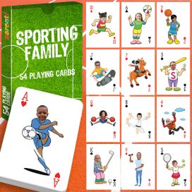 playing cards 54 pack sporting family