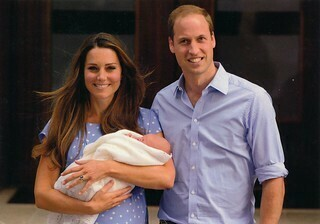 prince william, kate and baby george