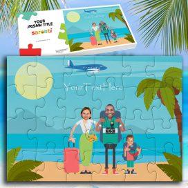 Beach Seaside Family 1 Child
