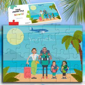 Beach Seaside Family 2 Children