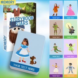 storybook stars memory card game