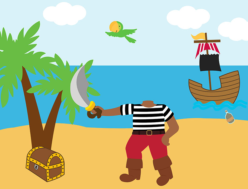 create your own personalised picture pirate