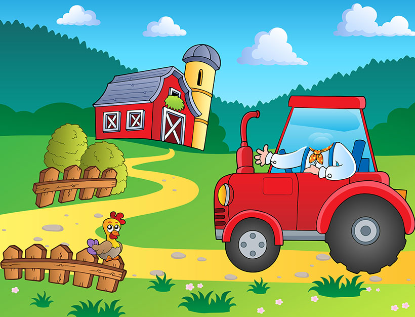 create your own personalised picture farmer tractor
