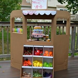 Cardboard box grocery store